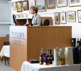 Auctioneer at Taylors Auction Rooms, Montrose