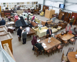 The main sale room (Sale room 1) at Taylors Auction Rooms Montrose