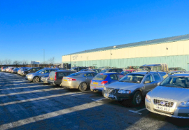 Car park at Taylors Auction Rooms, Montrose